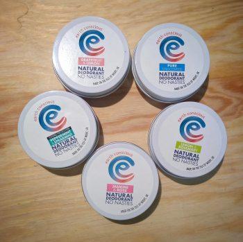 earth conscious deodorant tins