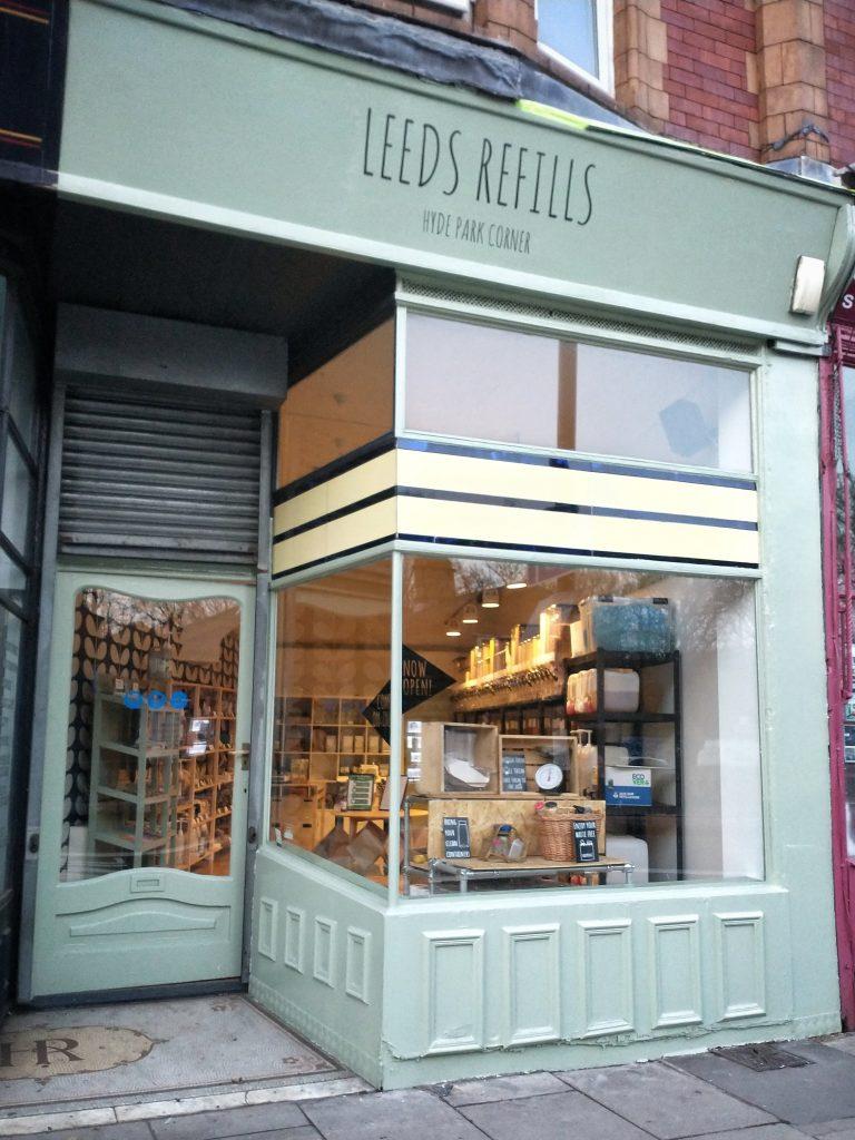 Leeds Refills Hyde Park Corner Shop Front